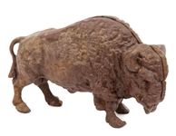 CAST IRON BISON BANK