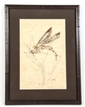 MOSQUITO SILKSCREEN ON MULBERRY PAPER FRAMED
