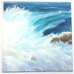 OIL ON GALLERY WRAPPED CANVAS OCEAN WAVE