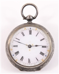 19TH CENTURY SWISS .935 SILVER POCKETWATCH & CASE