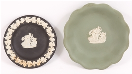 WEDGWOOD JASPERWARE CUPID TRINKET DISHES - LOT OF 2