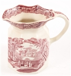 MASONS IRONSTONE VISTA ENGLAND PITCHER IN RED