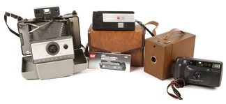 KODAK, POLAROID, MINOLTA AND GAF CAMERAS - LOT OF 4