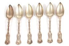 WHITING STERLING IMPERIAL QUEEN SPOONS - LOT OF 6