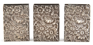 S. KIRK & SON STERLING SILVER REPOUSSE MATCH BOX COVERS