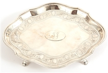 19TH C. ROBERT HENNELL III STERLING CONDIMENT TRAY