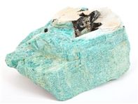 AMAZONITE ROUGH CUT STONE WITH TOURMALINE - 23.7 LBS