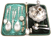 20TH C. SILVER PLATED SERVEWARE - LOT OF 13
