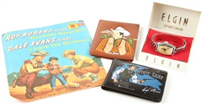 ROY ROGERS COLLECTIBLES - WALLETS, WATCH, RECORD