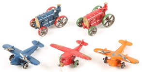 20TH C. LEAD METAL TOYS - PLANES & TRACTORS