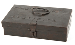 NEW YORK CENTRAL RAILROAD SYSTEM FIRST AID METAL BOX