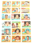 TOPPS 1960 BASEBALL CARDS - COLLECTORS LOT OF 18