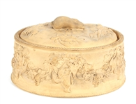 WEDGWOOD BISQUE CANEWARE GAME PIE DISH