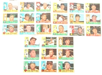 TOPPS 1960 BASEBALL CARDS - COLLECTORS LOT OF 27