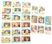 TOPPS 1960 BASEBALL CARDS - COLLECTORS LOT OF 26