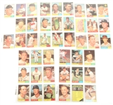 TOPPS 1961 BASEBALL CARDS - COLLECTORS LOT OF 44