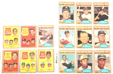 TOPPS 1962 SPORTING NEWS BASEBALL CARDS - LOT OF 15