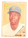 1962 TOPPS LOU BROCK 387 ROOKIE CHICAGO CUBS