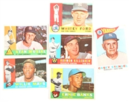 1960 TOPPS BASEBALL CARDS - MAYS FORD BANKS KILLEBREW