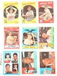 1959 - 1960 TOPPS BASEBALL CARDS - MAYS MANTLE FORD
