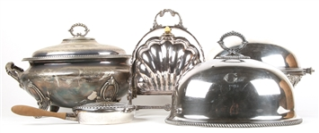 SILVER PLATED SERVEWARE - LOT OF 5