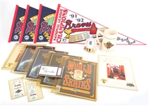 ATLANTA BRAVES 1991-92 SEASON COMMEMORATIVE  LOT OF 16