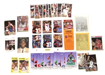 NBA TRADING CARDS FROM 1980S AND 1990S LOT OF 53