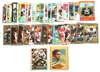NFL TRADING CARDS FROM 1970S THRU 1990S LOT OF 38