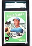 1959 TOPPS #350 ERNIE BANKS GRADED BASEBALL CARD