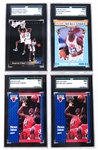MICHAEL JORDAN & SHAQUILLE ONEAL - GRADED BASKETBALL CARDS