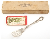 1904 R. WALLACE & SONS SILVER VIOLET PASTRY FORK