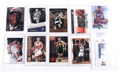 1990S & 2000S NBA BASKETBALL CARD LOT OF 10
