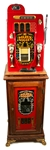 MILLS 25 CENT GOLDEN NUGGET SLOT MACHINE & BASE